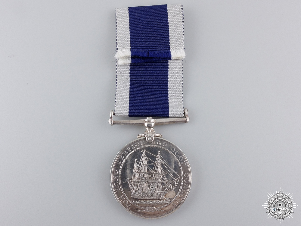 A Royal Naval Long Service & Good Conduct Medal to H.M.S. Hecla