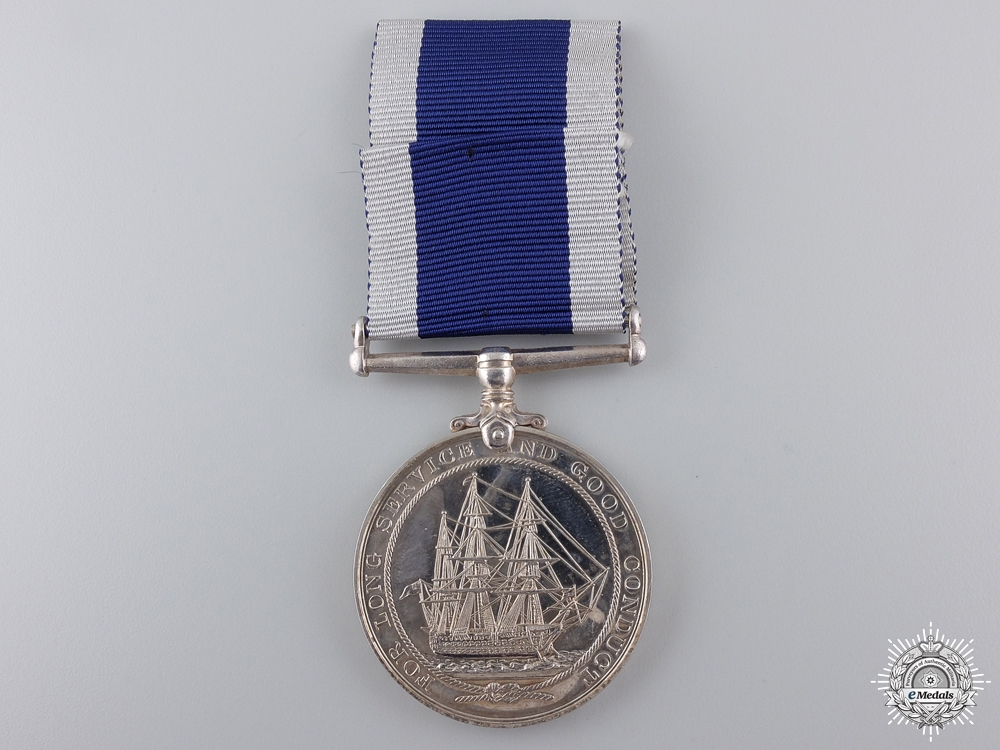 A Royal Naval Long Service & Good Conduct Medal to H.M.S. Victory