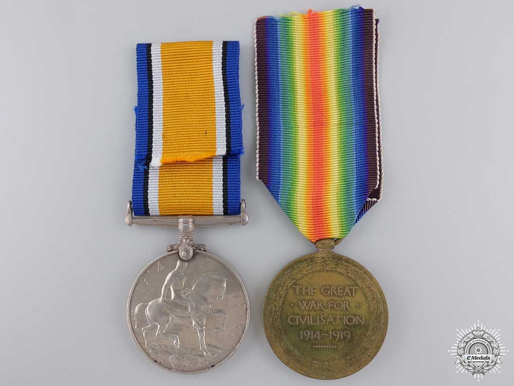 A First War British Medal Pair to the Gordons
