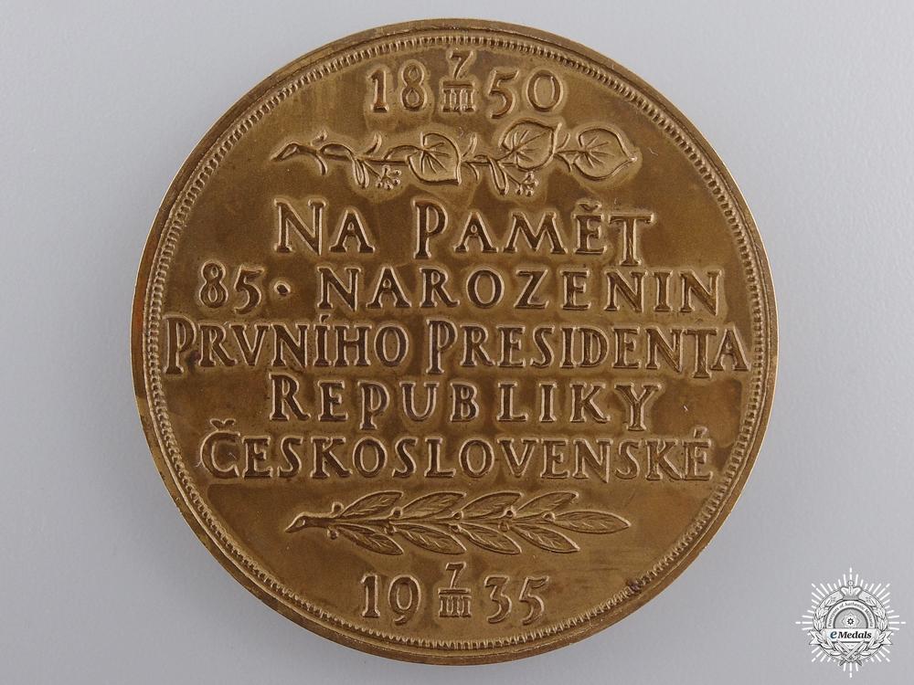 Czechoslovakia, Socialist Republic. A 1935 Tomas G. Masaryk Medal, Bronze Grade