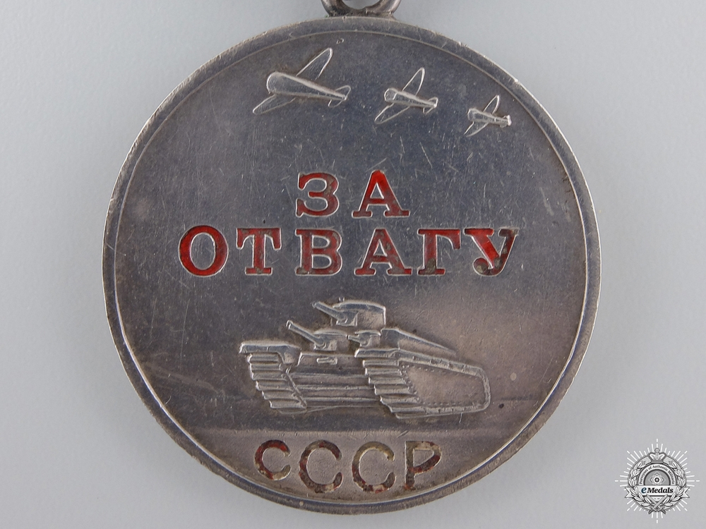 A Second War Soviet Medal for Bravery; Type II
