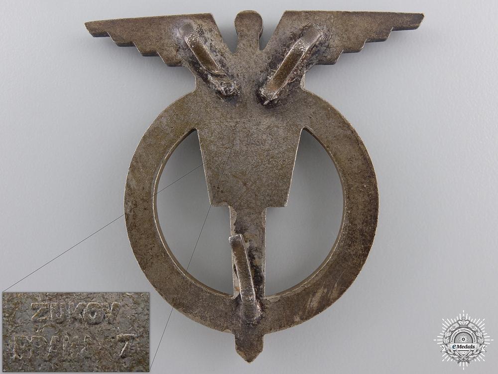 A Czechoslovakia Socialist Air Force Navigator Badge; 3rd Class