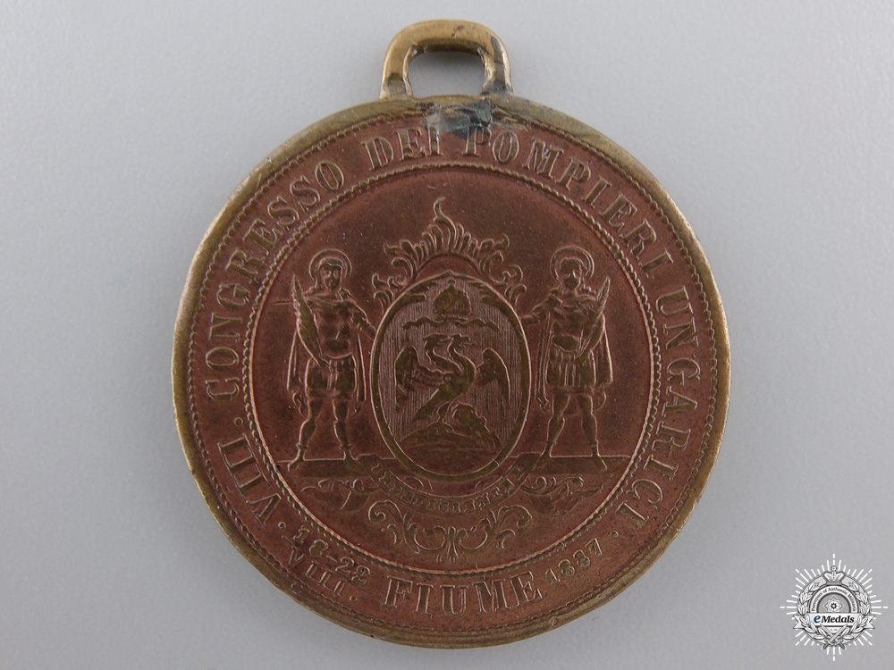 An 1887 Pompieri - Firefighters Congress Medal; Fiume (Rijeka)