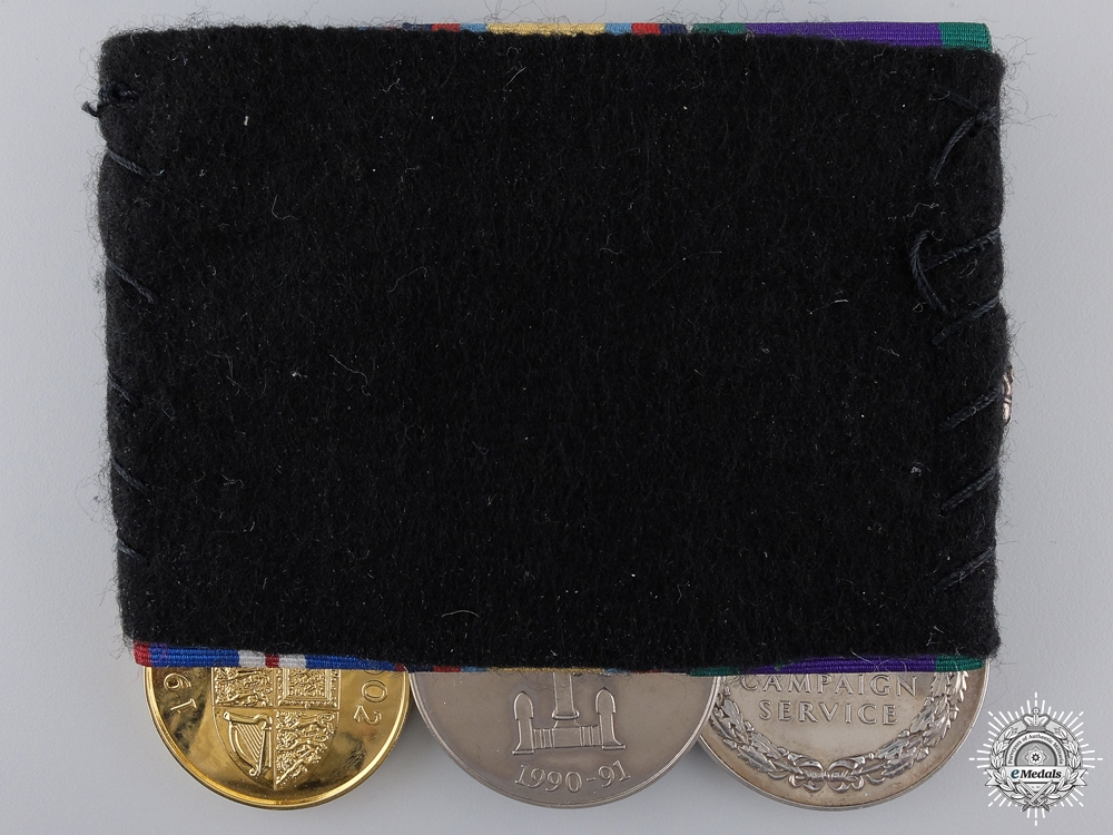 A Gulf War Campaign Medal Bar to Gunner M.A.S. Banks, Royal Artillery