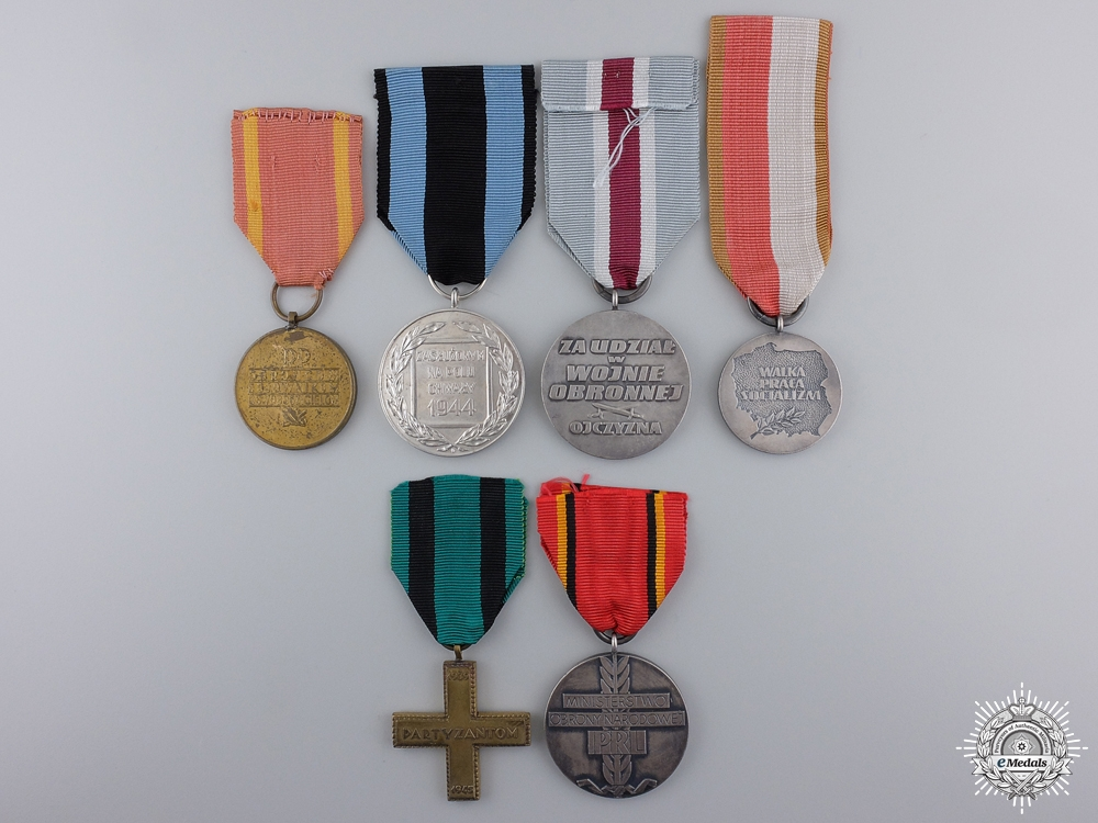 A Polish Group of Six Medals