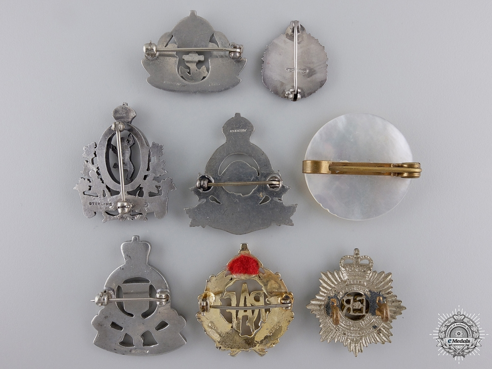 A Group of Eight Common Wealth Regimental Pins