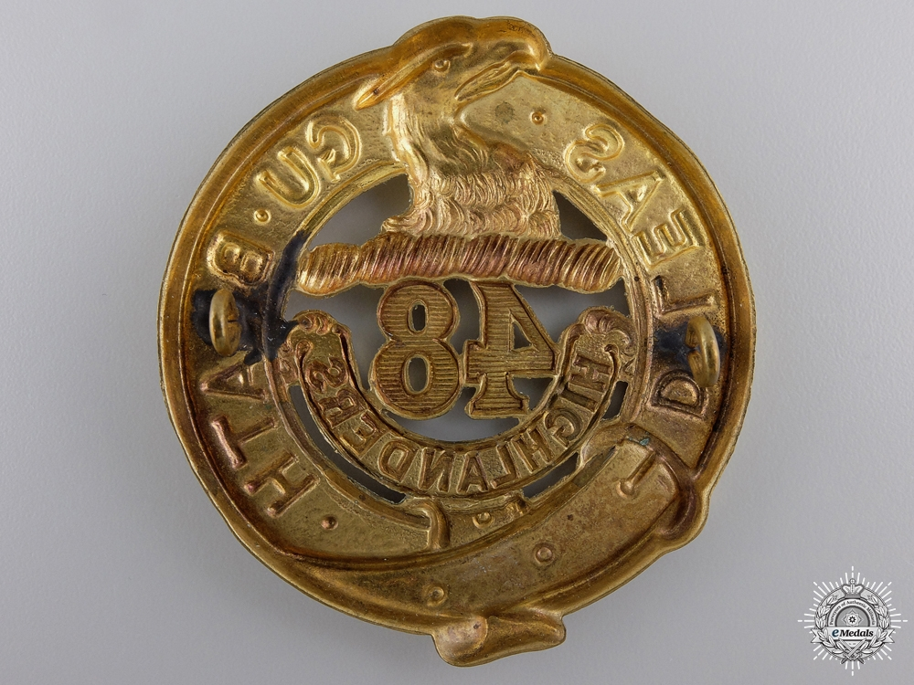 A 48th Highlanders Regiment Cap Badge c.1904
