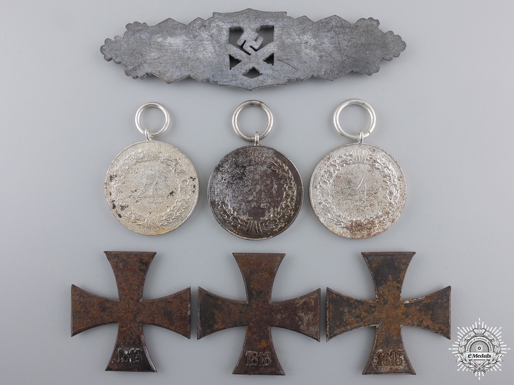 A Lot of Seven Awards Recovered from Bombed Zimmermann Factory