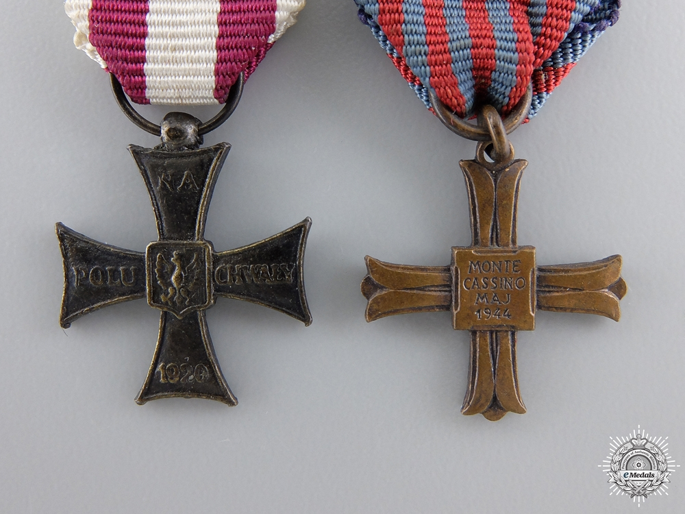 Two Second War Polish Miniature Crosses