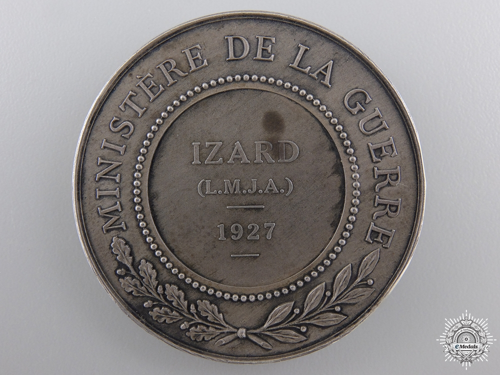 A 11927 French Minister of War Award Medal; Silver Grade