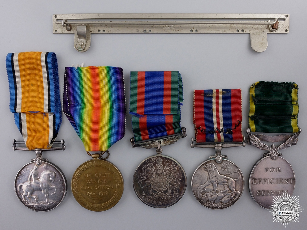 A First & Second War Efficiency Medal Group to the Midland Regt.