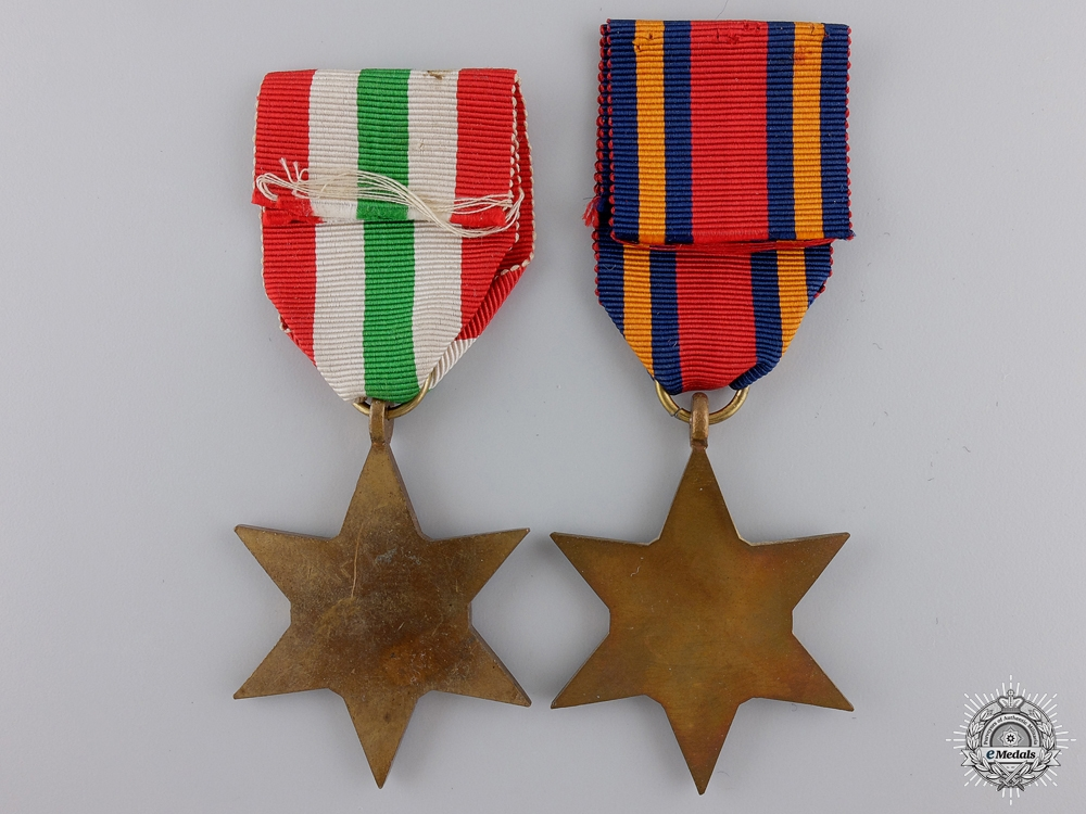 Two Second War British Campaign Stars