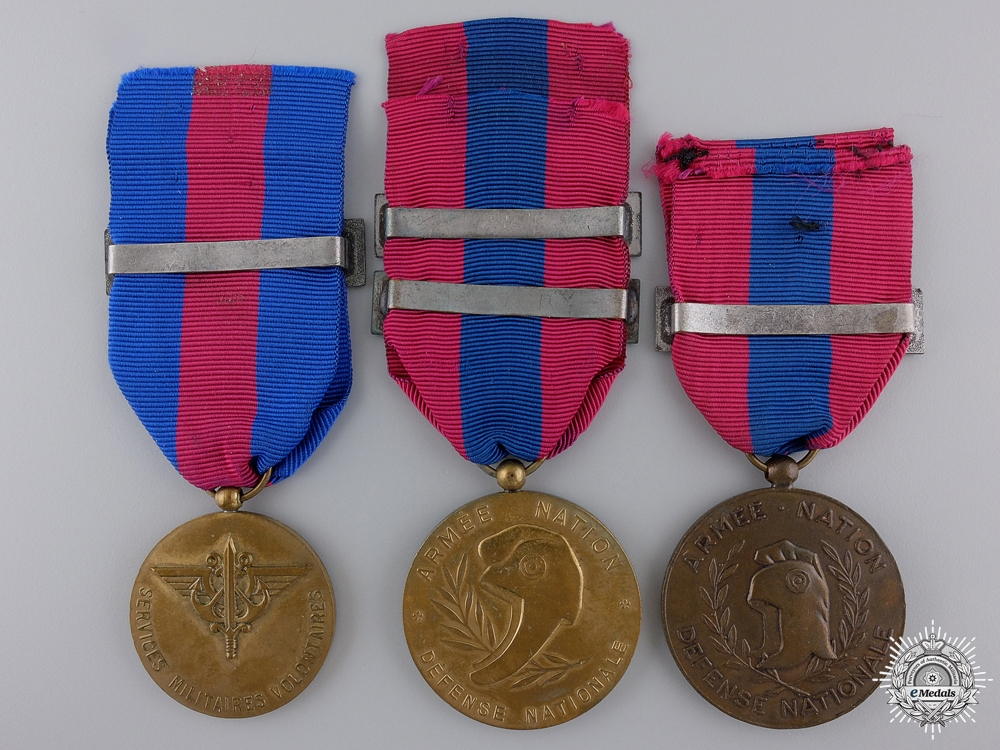 Three French Military Service Medals