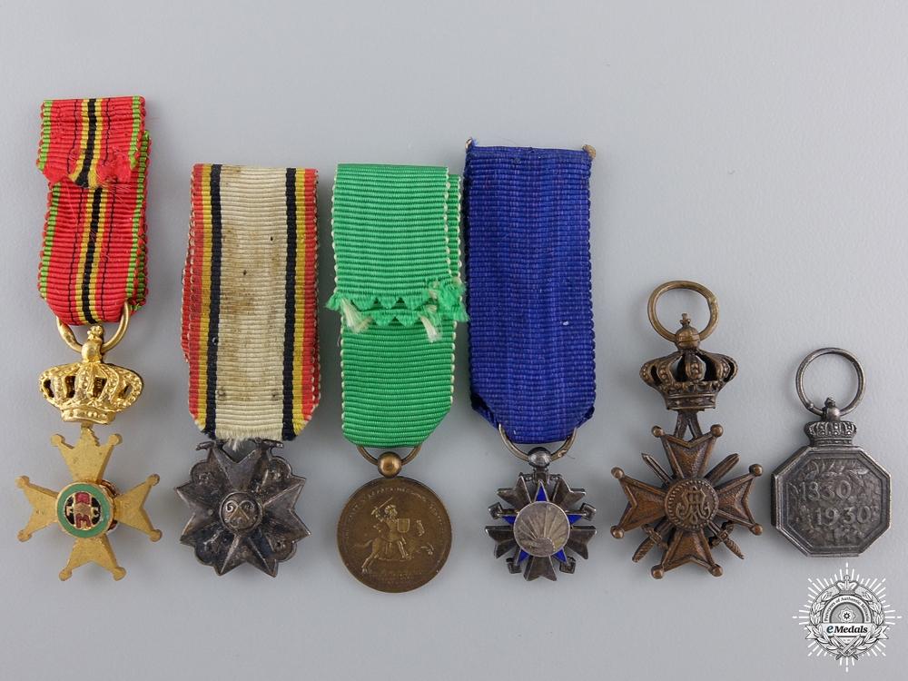 Six Belgian Miniature Medals