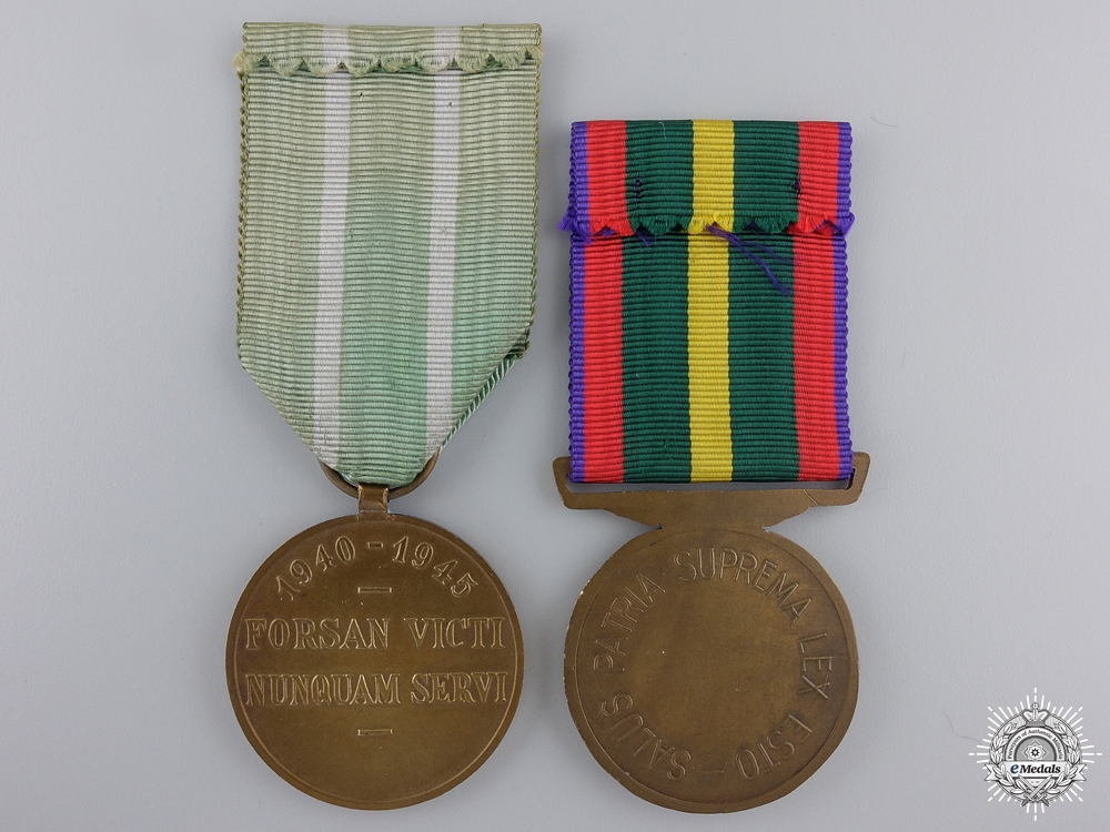 Two Second War Belgian Awards