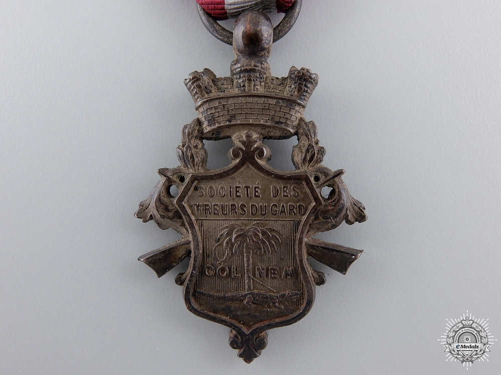 A Rare French Colonial Society of Marksmen Medal; 2nd Class