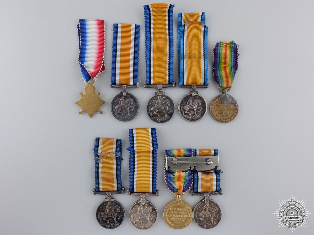Nine First War Miniature Service Medals