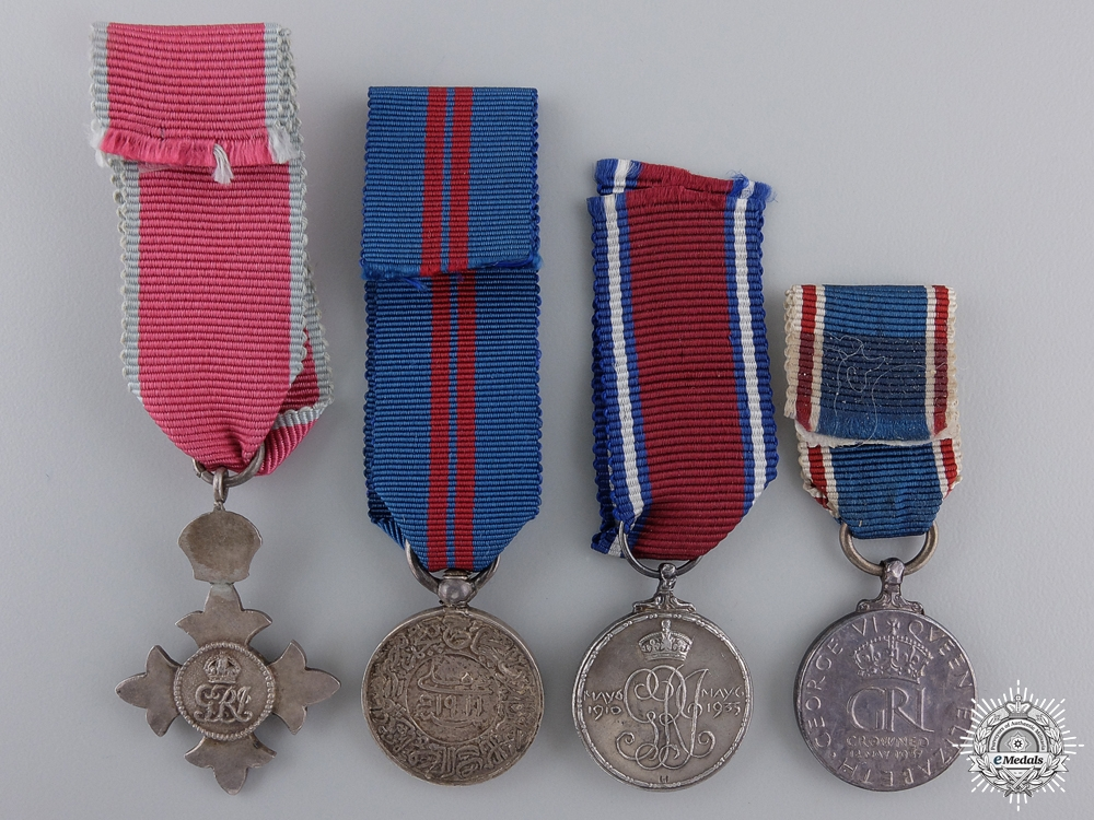 Four Miniature British Orders and Medals