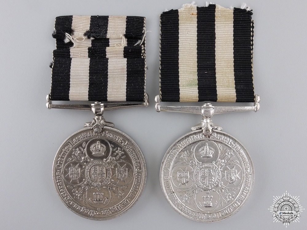 Two Service Medals of the Order of St. John