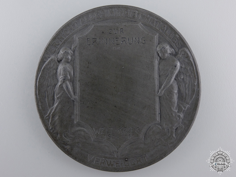 A First War German Memorial  Table Medal 1914-17