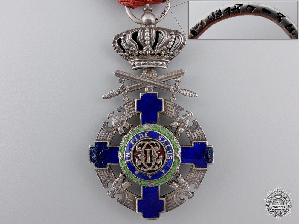 A Romanian Order of the Star; Knight's Cross with Swords