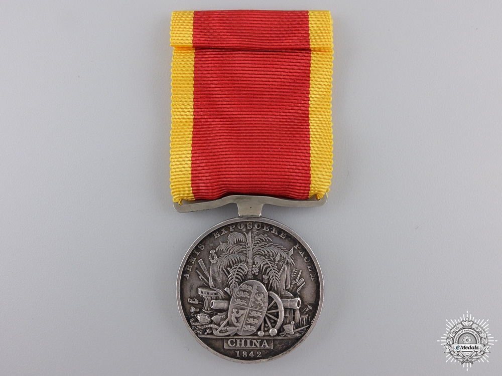An 1842 China War Medal to the 98th Regiment of Foot