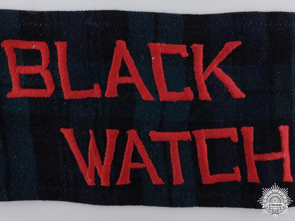 A Rare First War Black Watch Stretcher Bearer Arm Band