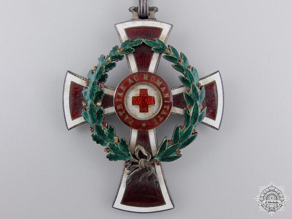 An Austrian Red Cross Decoration; 1st Class by Rothe