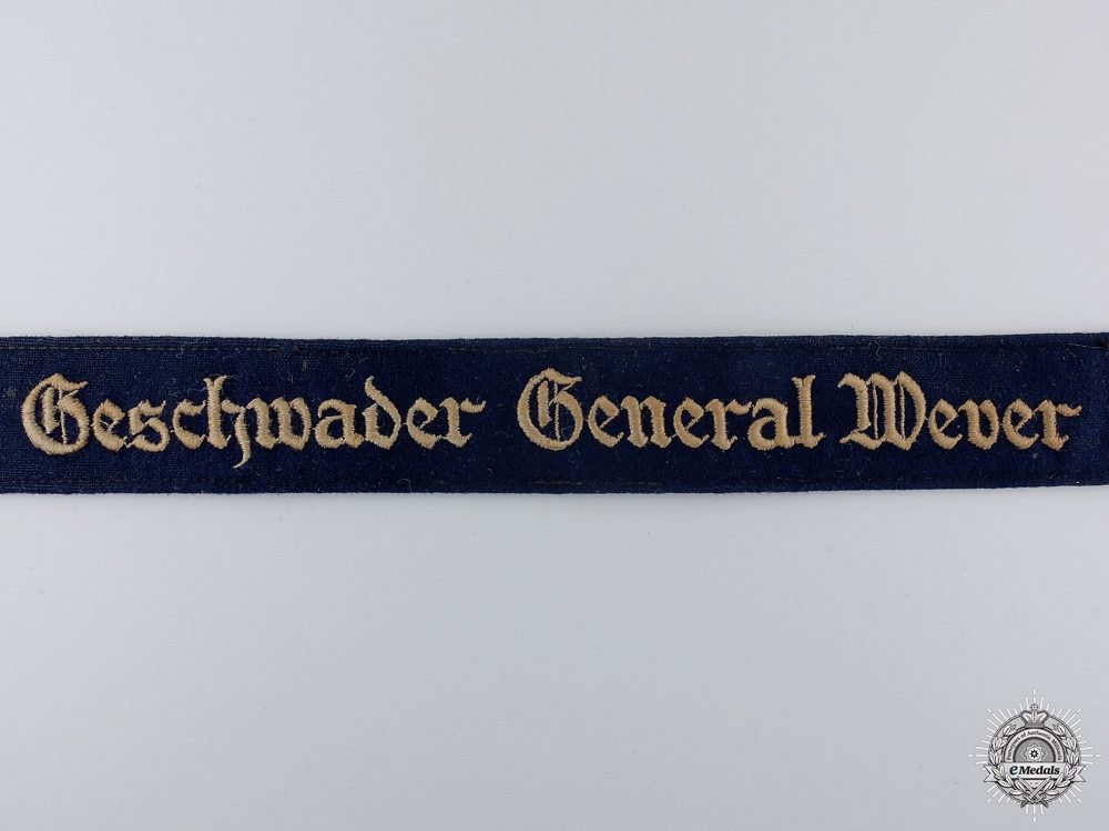 A Luftwaffe Officers General Wever Cufftitle; Tunic Removed