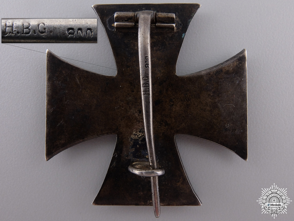 An Iron Cross 1st Class 1914 by Unknown Maker H.B.G.