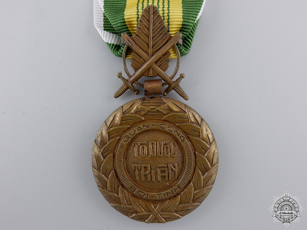 A Vietnamese Military Merit Medal; 2nd Republic Issue