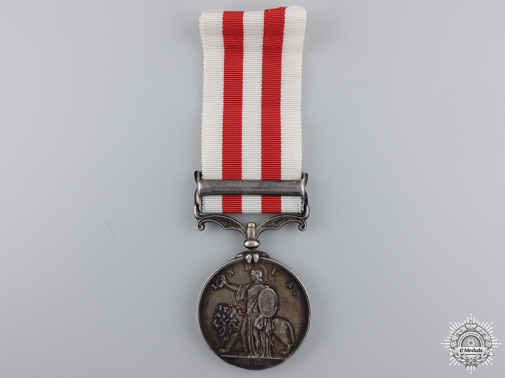 An India Mutiny Medal to the 32nd Light Infantry; KIA at Chinhat  Consignment 21