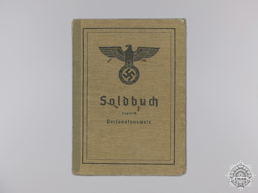 A Soldbuch to the 5th Mountain Division; DKG Recipient