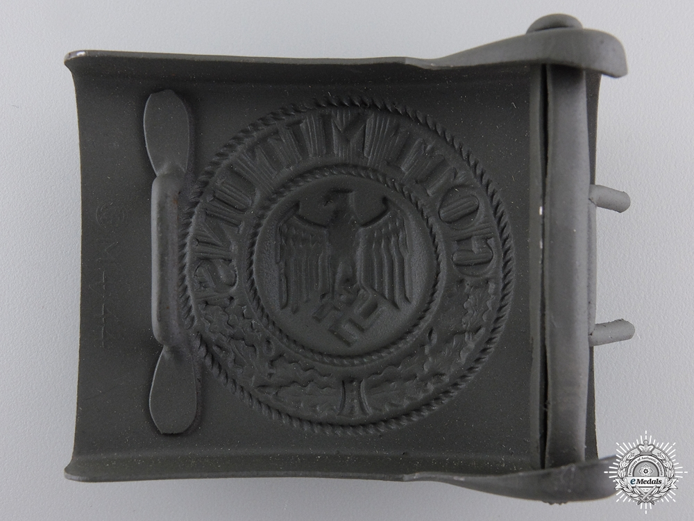 A Mint Army Belt Buckle by Paul Cramer & Co