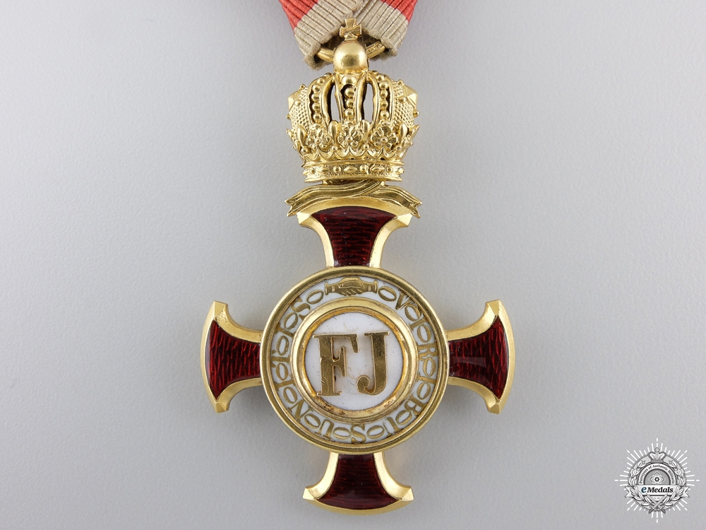 An Austrian Golden Cross of Merit with Crown by V.Mayer