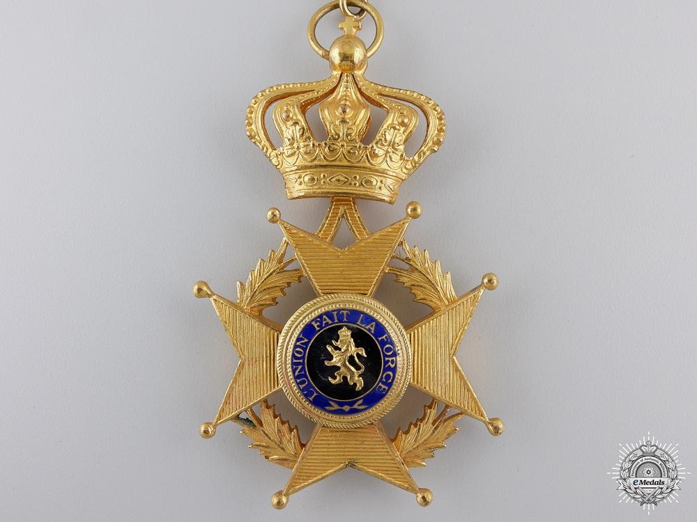 A Belgian Order of Leopold II; Commanders Neck Badge