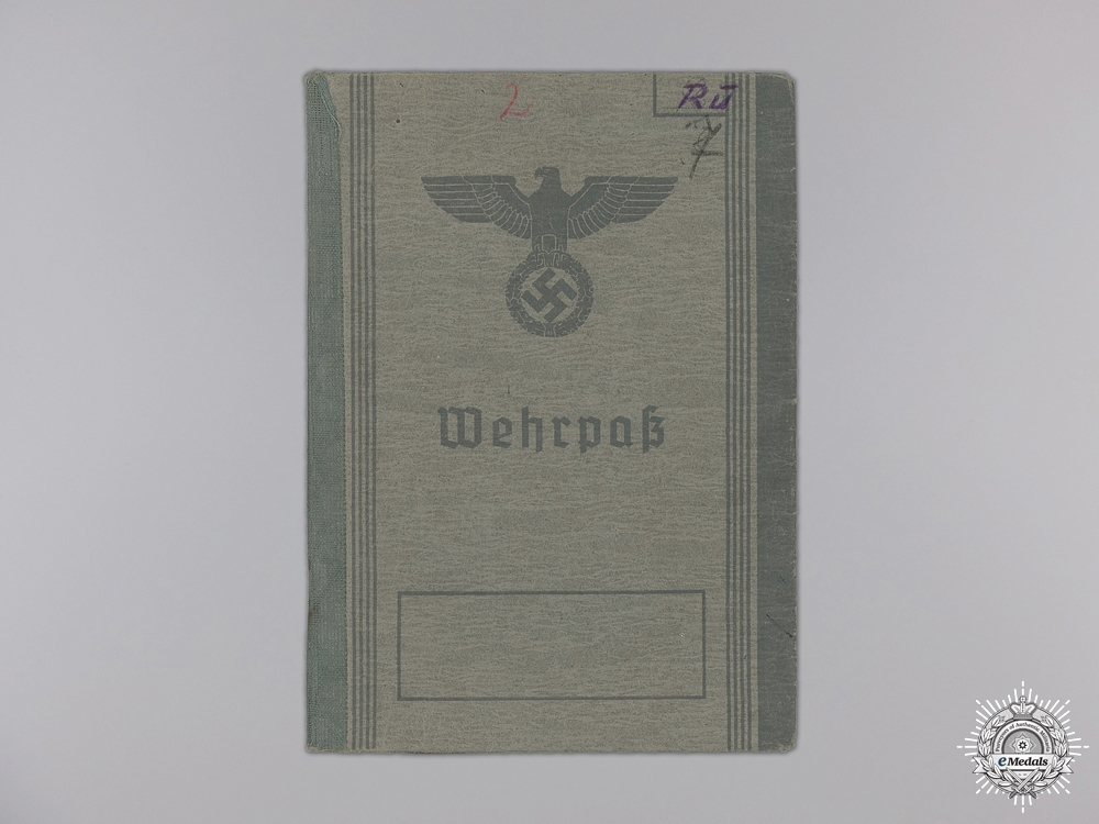 A Wehrpass and Condolence Letter; 7th Panzer Regiment KIA