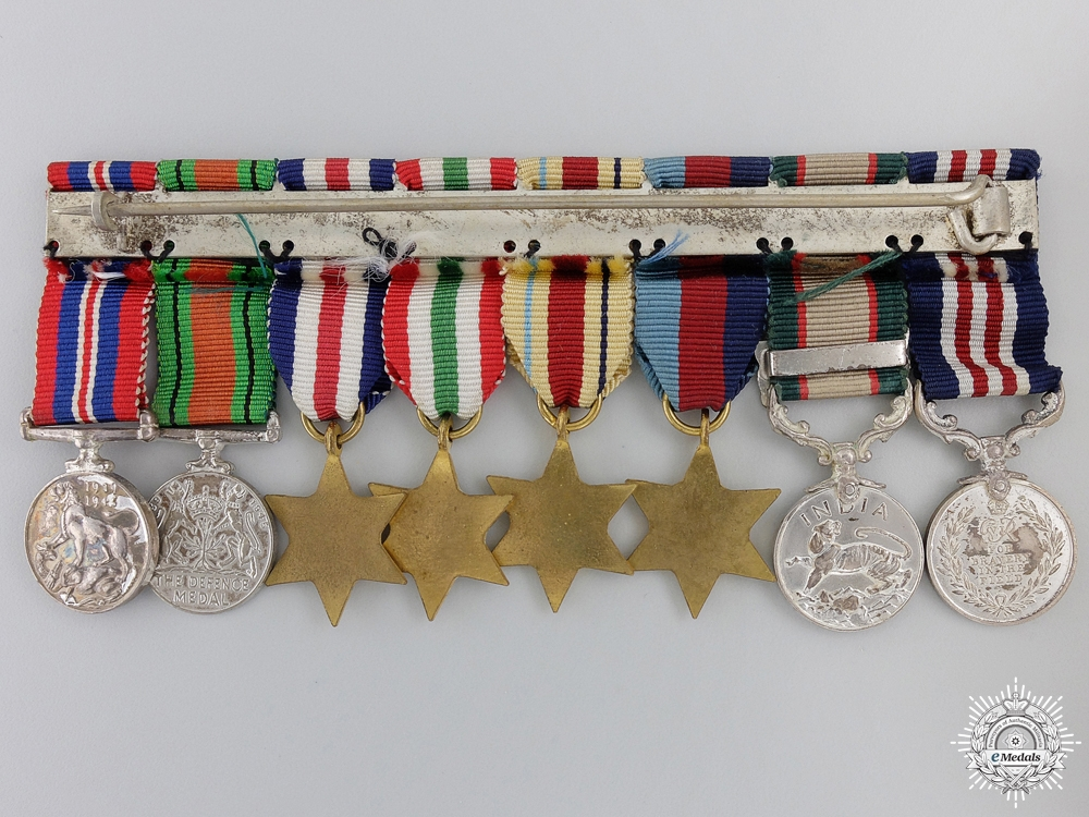 A Second War Military Medal & India Service Miniature Group