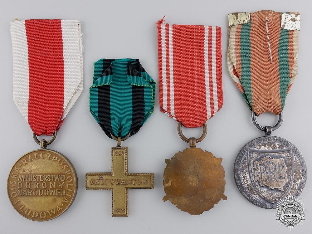 Four Polish Medals & Awards