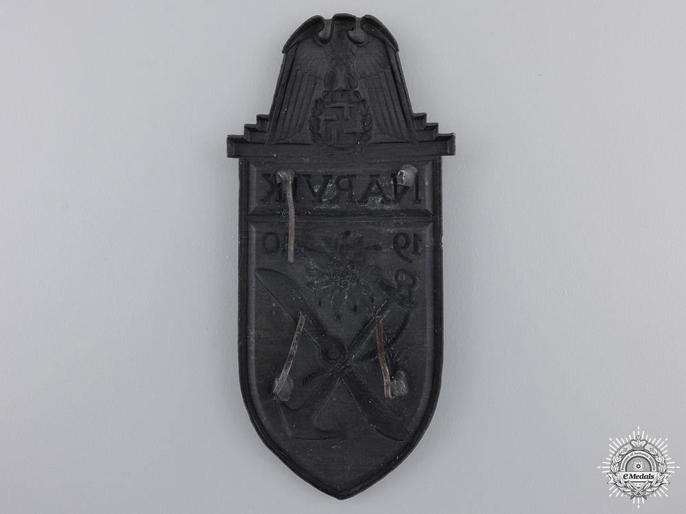 A Narvik Campaign Shield; Silver Grade
