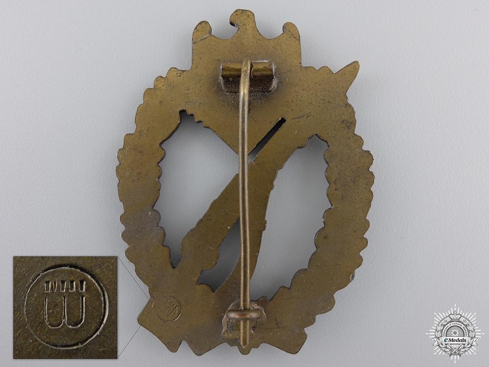 A Bronze Grade Infantry Badge by Hermann Wernstein