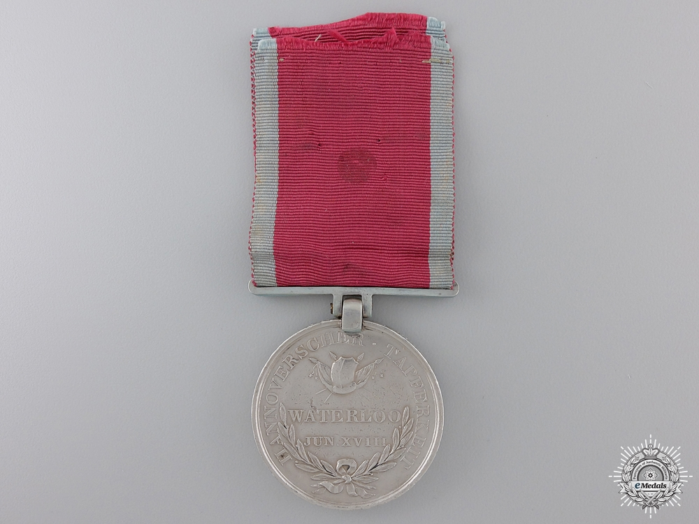 A Hanoverian Waterloo Medal to  Landwehr Battalion Verden