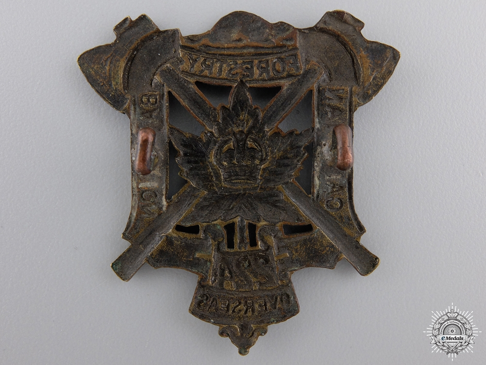 "A First War 224th ""Canadian Forestry Battalion"" Cap Badge"