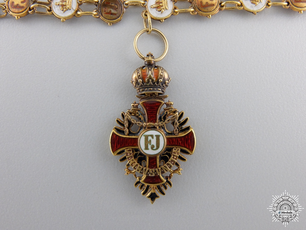 A Miniature Austrian Order of Franz Joseph in Gold by Rothe