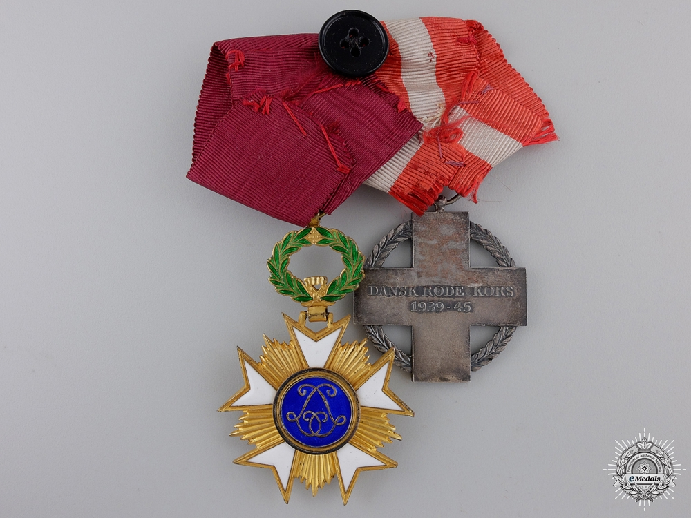 A Second War Danish-Belgium Red Cross Pair