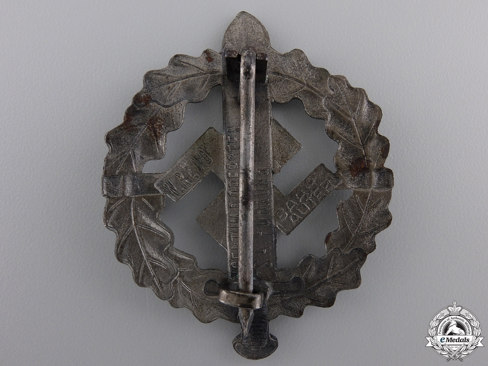 A Silver Grade SA Defense Badge