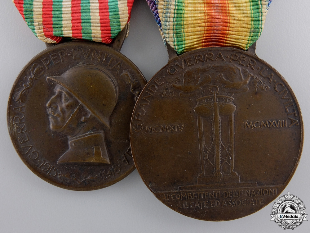 A First War Italian Medal Pair