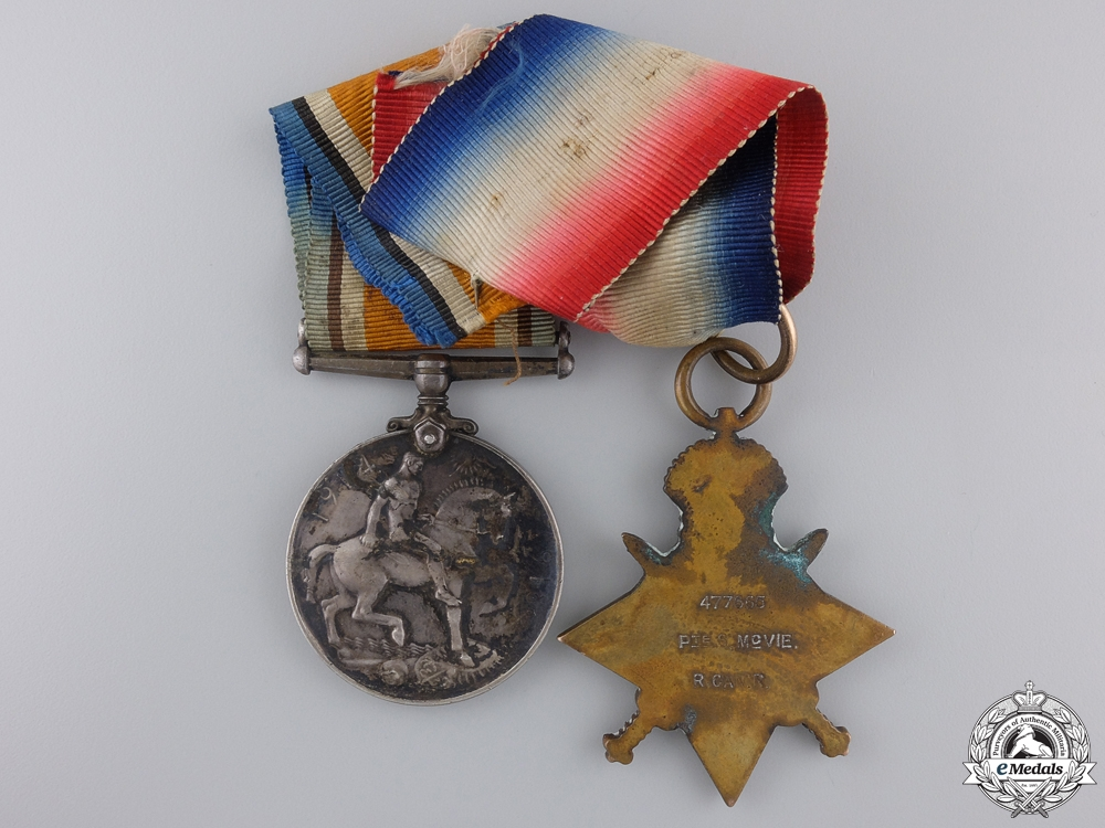 A First War Medal Pair to the Royal Canadian Regiment