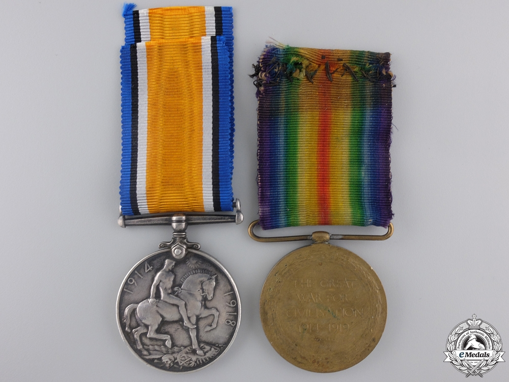 A First War Canadian Medal Pair to the 22nd Infantry Battalion