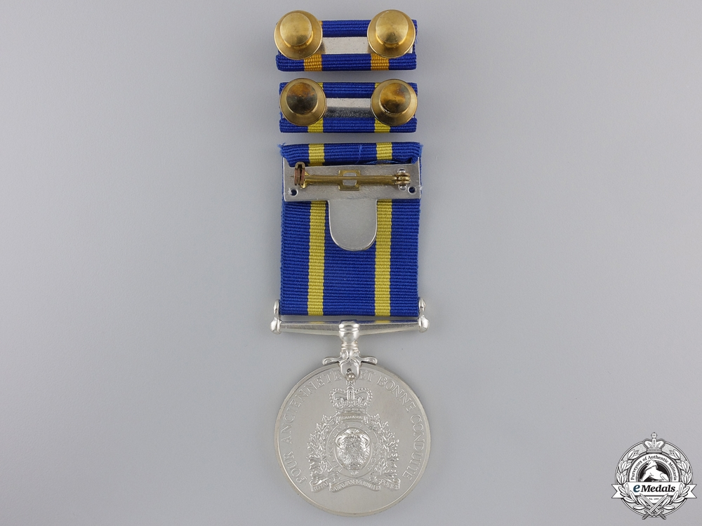 A Royal Canadian Mounted Police Long Service Medal to J.J.R. Potvin